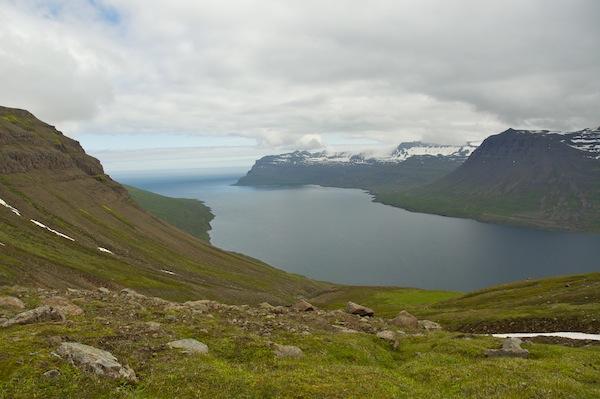 Looking down into Seydisfjordur