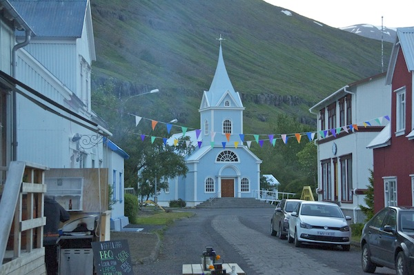 The small town of Seydisfjordur at the end of the trek