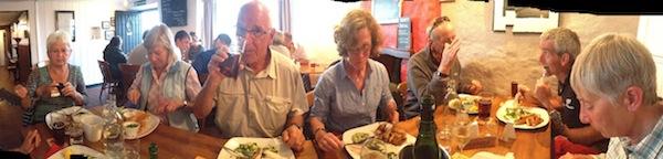 Celebratory meal in Dale