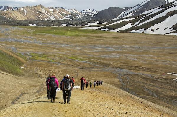 Approaching Landmannalaugur