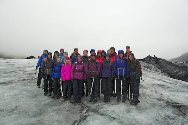 Cold and wet on the glacier