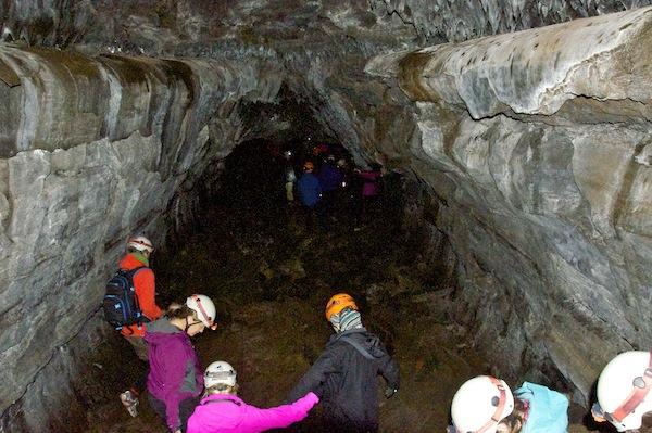 Lava tube caving