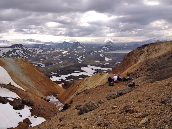 Looking down at Alftavatn and beyond