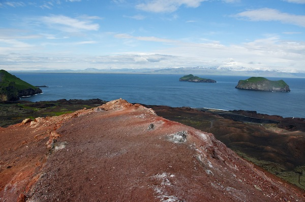 Mainland Iceland from Eldfell