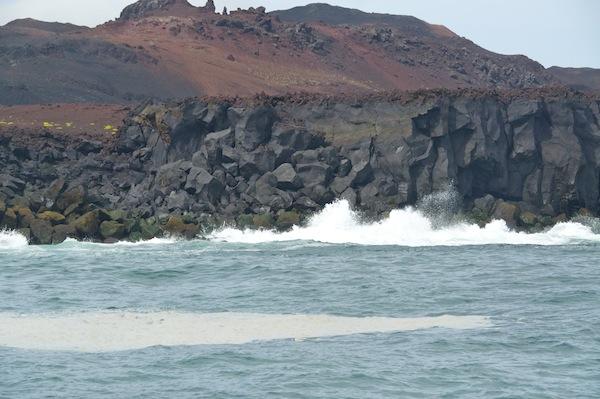 New volcanic coastline