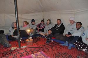Mess tent conversation