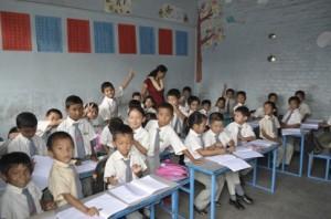 Saptagandaki school classroom
