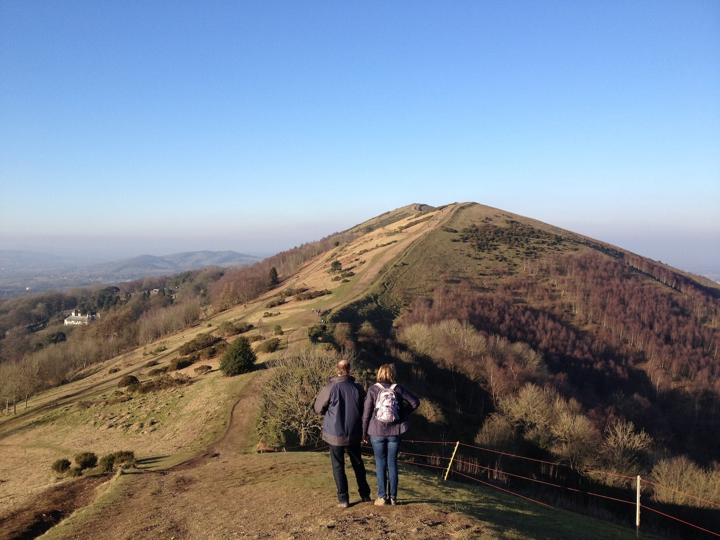 Admiring the view on the southern Malvern Hills