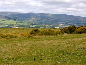 Looking across to Radnor Forest from Hergest Ridge