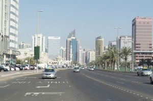 High rise, multi-laned Abu Dhabi