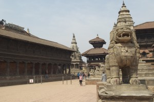 The quiet Durbar Square, Bhaktapur