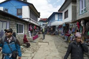 Main street, Lukla