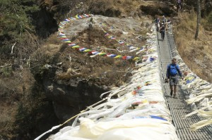 The bridge at the foot of Namche Hill