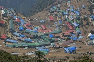 Ever growing Namche Bazaar