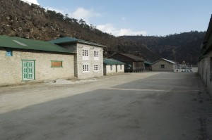 Khumjung School.  The building on the immediate left is the one we helped repair in 1996.
