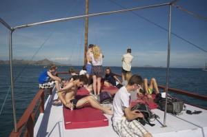 All aboard on the sun deck