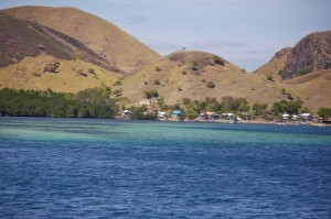 Coastline fishing village
