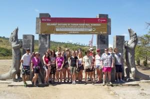 Entrance to Komodo National Park, Rinca