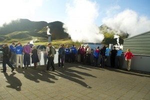The geothermal energy plant