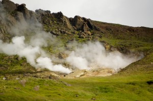 One of the many geothermal activity sites that we saw