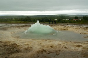 Geysir about to blow!