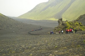 Trekking from Alftavatn to Emstrur