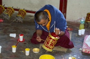 Freshening up the prayer wheels
