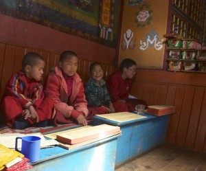 Young nuns at Muktinath