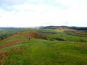 Meandering up the Lawley Ridge with the Wrekin in the distant background