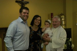 Ben, Kelly, Eva and Father Barry