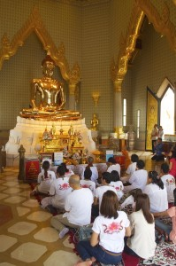 Chanting devotees