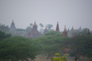 Just a few of the many pagodas of Bagan