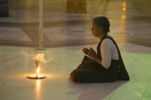 Praying devotee
