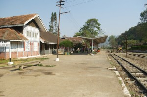 Kalaw Station trying to look like and English country station