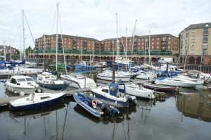 The redeveloped marina at St Peter's