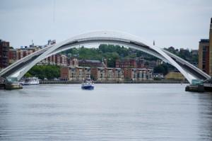 The Millennium Bridge in the open position