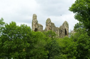 The ruins of Thirwall Castle