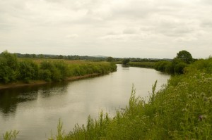 The River Eden approaching Carlisle
