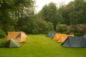 Our lawn camp at Sandysike
