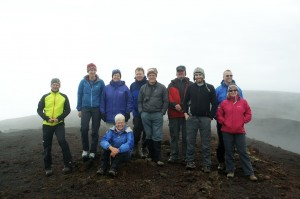 On the summit of Mt. Hekla