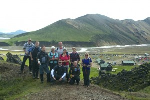 Leaving crowded Landmannalaugar behind