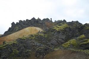 Bizarre volcanic ridge
