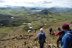 Descending toward Alftavatn