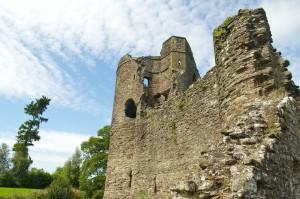 The battlements of Grosmont Castle