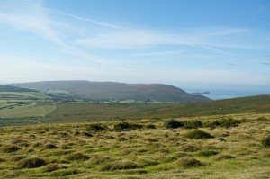 Looking towards Rhossili Down and Worm's head from Llanmadoc Hill