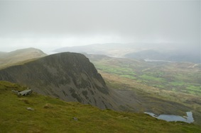 From the summit on a blustery autumnal day