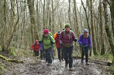 Ascending the muddy slope of Skirrid