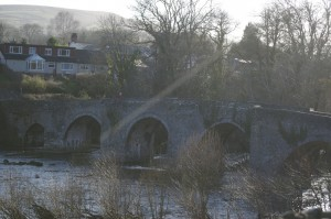 The bridge over the River Usk at Llangynidr