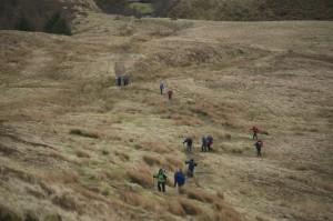 Climbing up to Craig y Fan Ddu