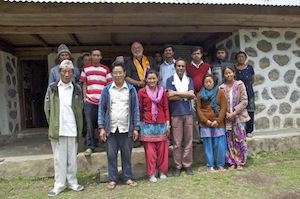 The health workers and members of the Village Health Committee